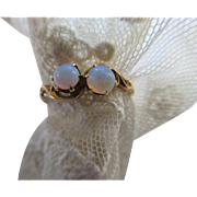 Antique 10K Opal Ring, Victorian Estate Jewelry