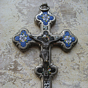 Late 19th Century Italian Mosaic Crucifix, Grand Tour Souvenir