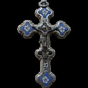 Late 19th Century Italian Mosaic Crucifix, Grand Tour Souvenir