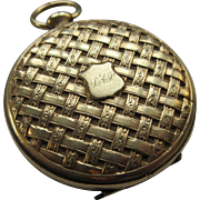 Victorian Locket with Family Photos  Five Photos Of Children