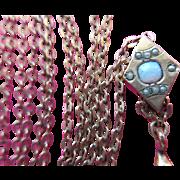 Victorian Ladies Slide Chain Antique watch Chain