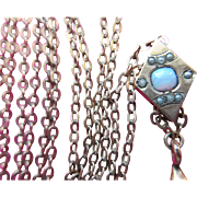 Victorian Ladies Slide Chain Antique watch Chain