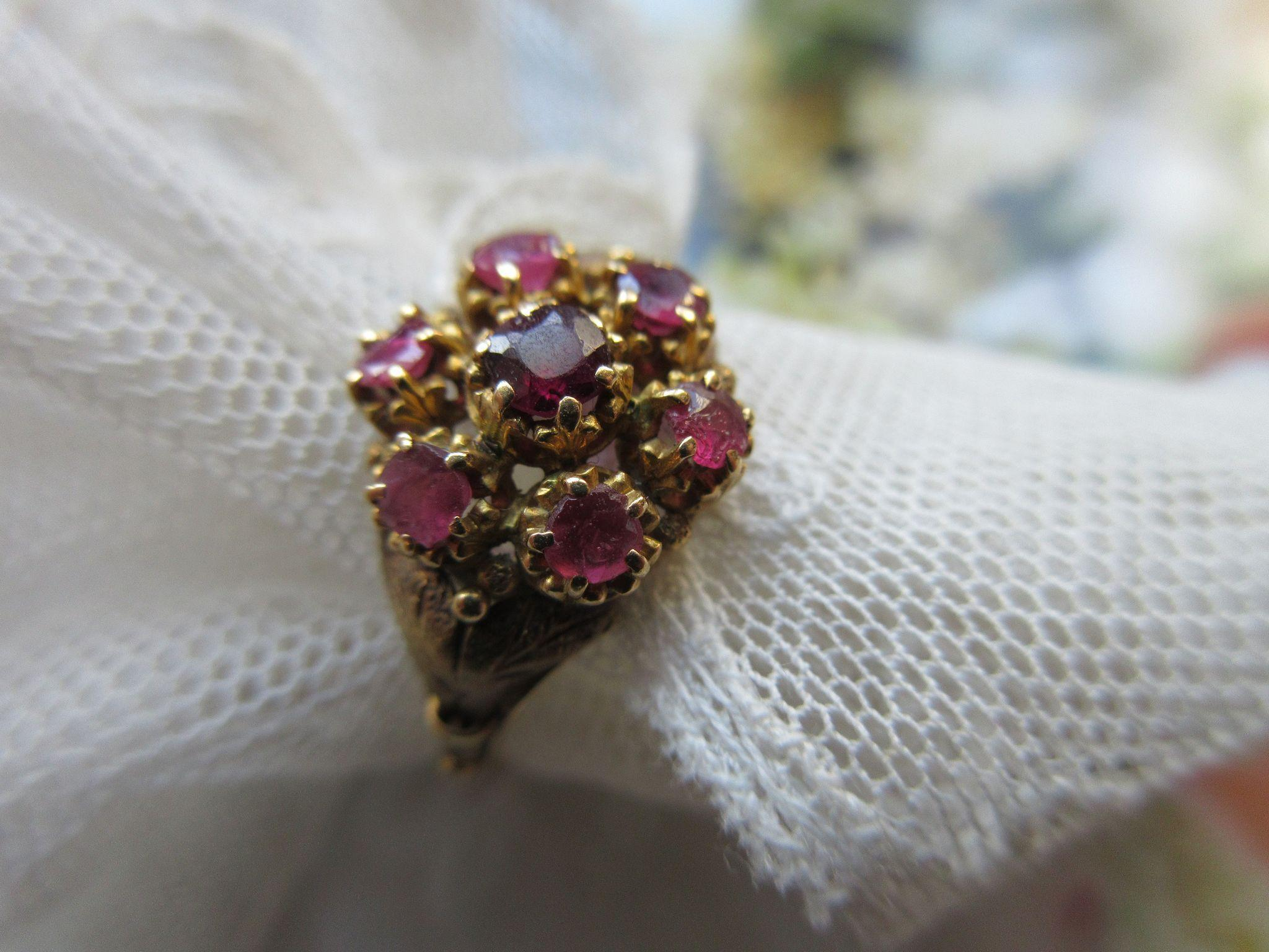 Victorian 10K Ruby Ring