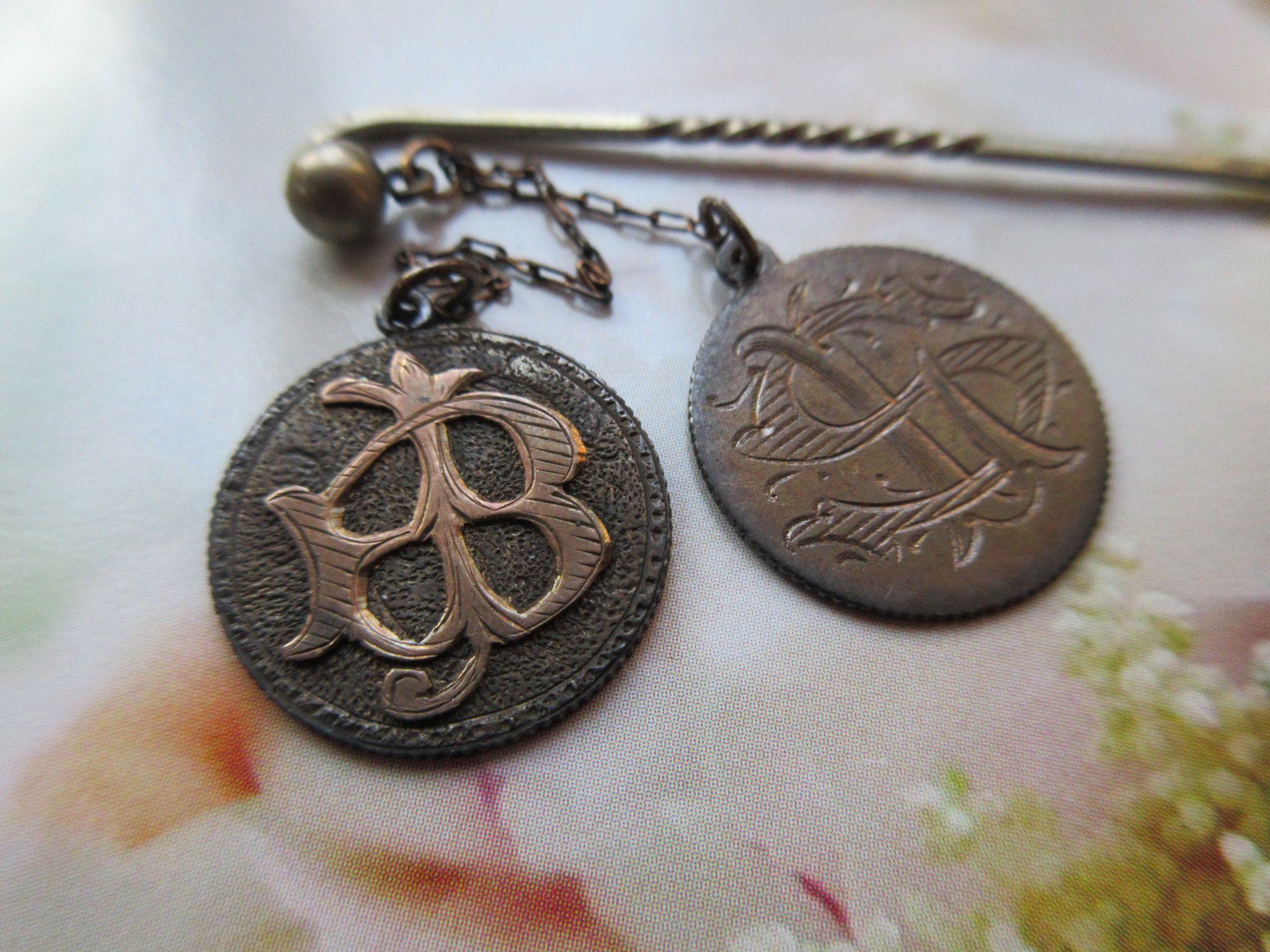 Antique Love Token Stick Pin