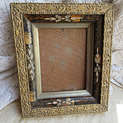 Victorian Antique  Wood Eastlake Picture Frame Circa 1880