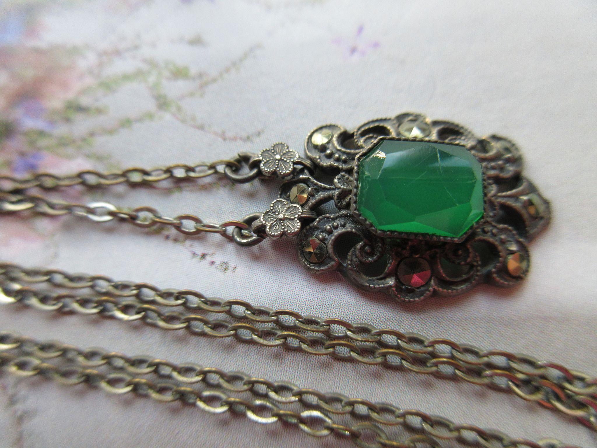 Vintage Deco 1930s Sterling Necklace