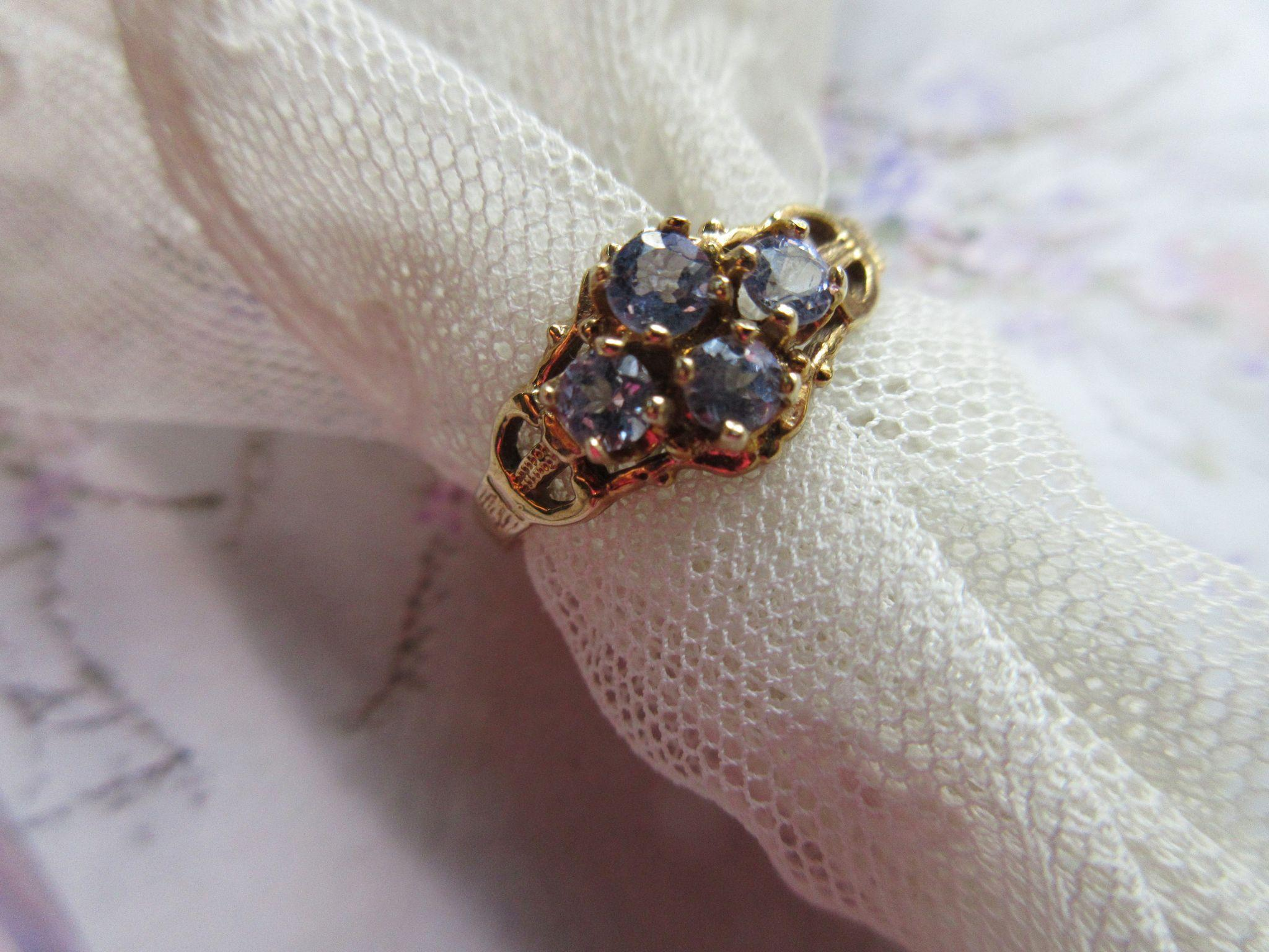 Vintage 10K Tanzanite Ring  Fine Estate Jewelry