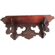 Victorian Carved Wood Clock Shelf