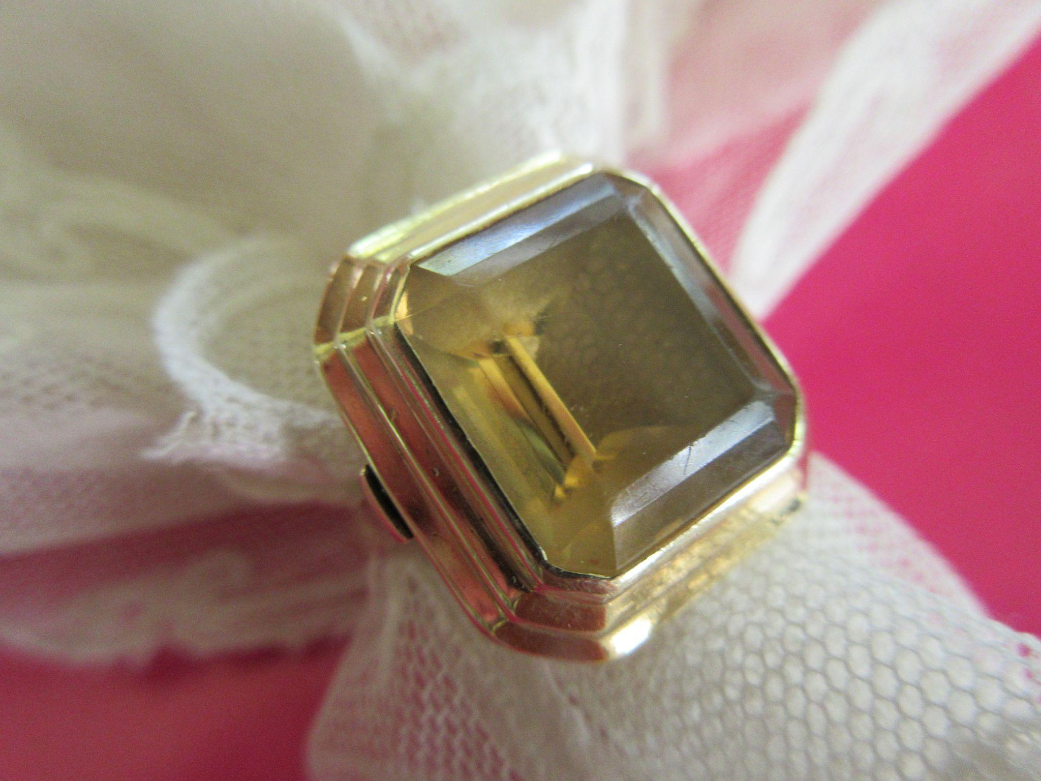 Vintage Retro 14K Citrine Ring