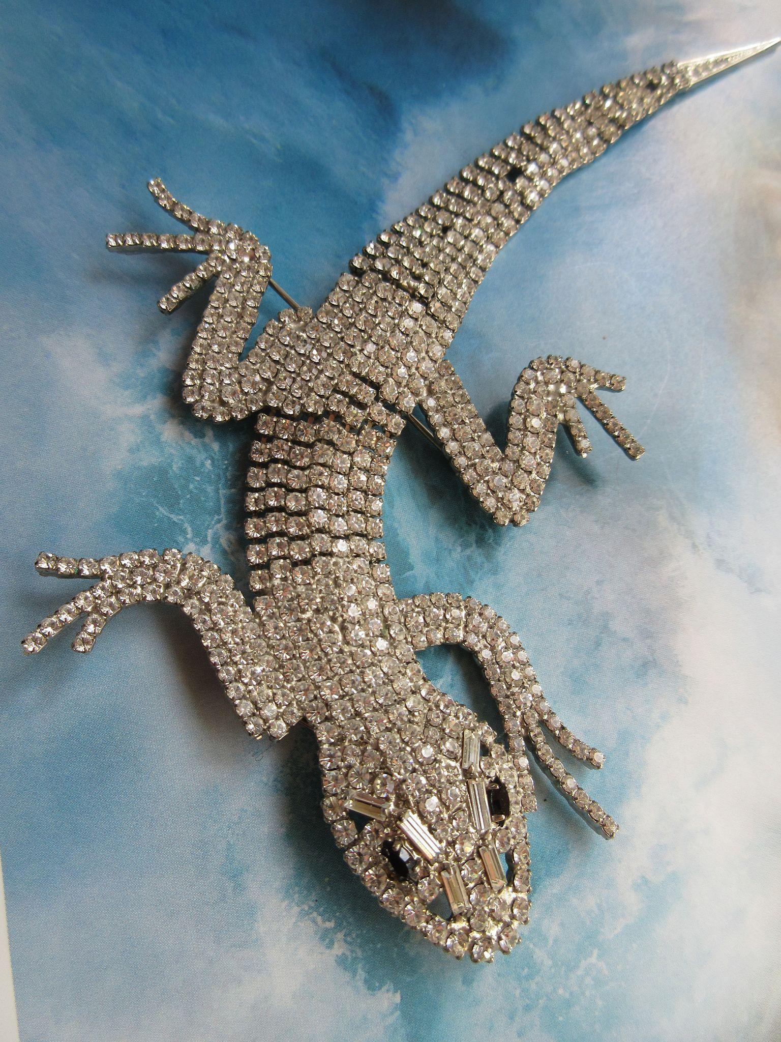 Butler and Wilson Signed Lizard Brooch  Book Piece