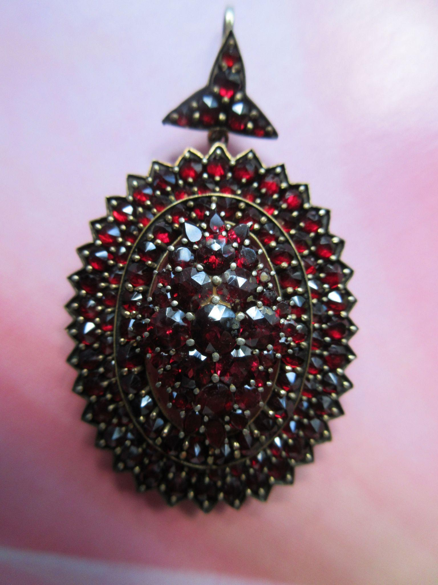 Antique Garnet Memorial Locket