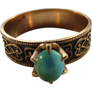 Victorian 14K Turquoise Ring