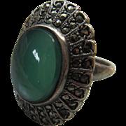 Vintage Deco Sterling Marcasite Ring