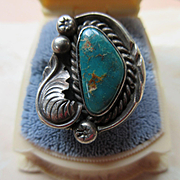 Vintage Navajo Sterling Turquoise Ring
