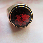 Antique 10K Garnet Ring Size 9.5