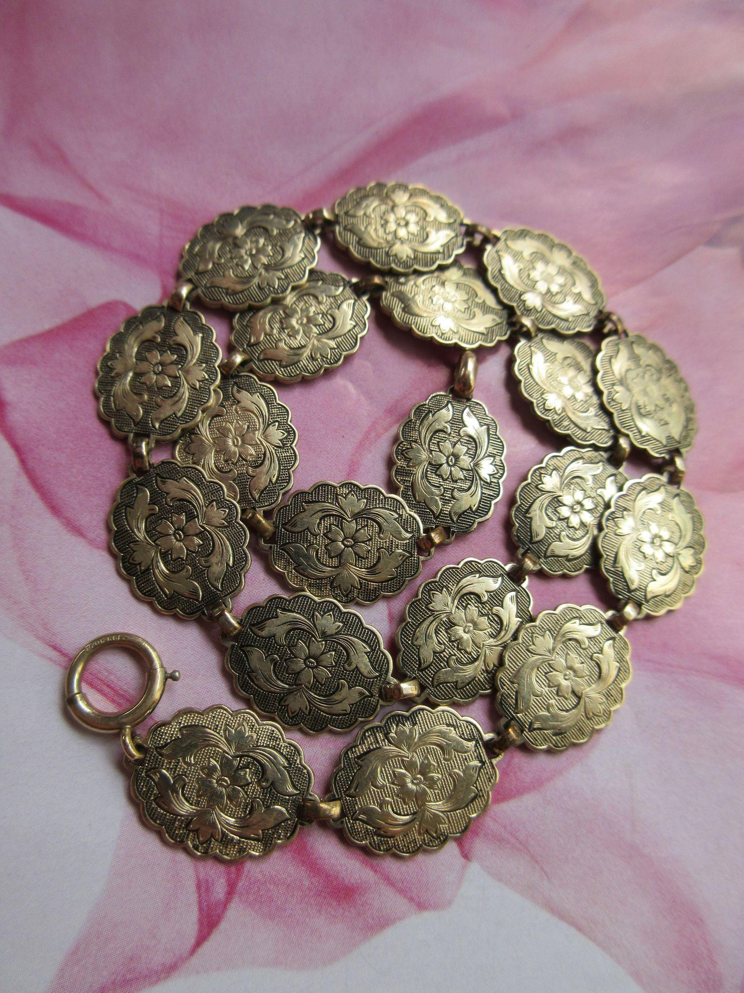 Vintage Bliss Brothers Gold Fill Floral Necklace Circa 1920