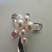 Mikimoto Sterling Akoya Pearl Pendant