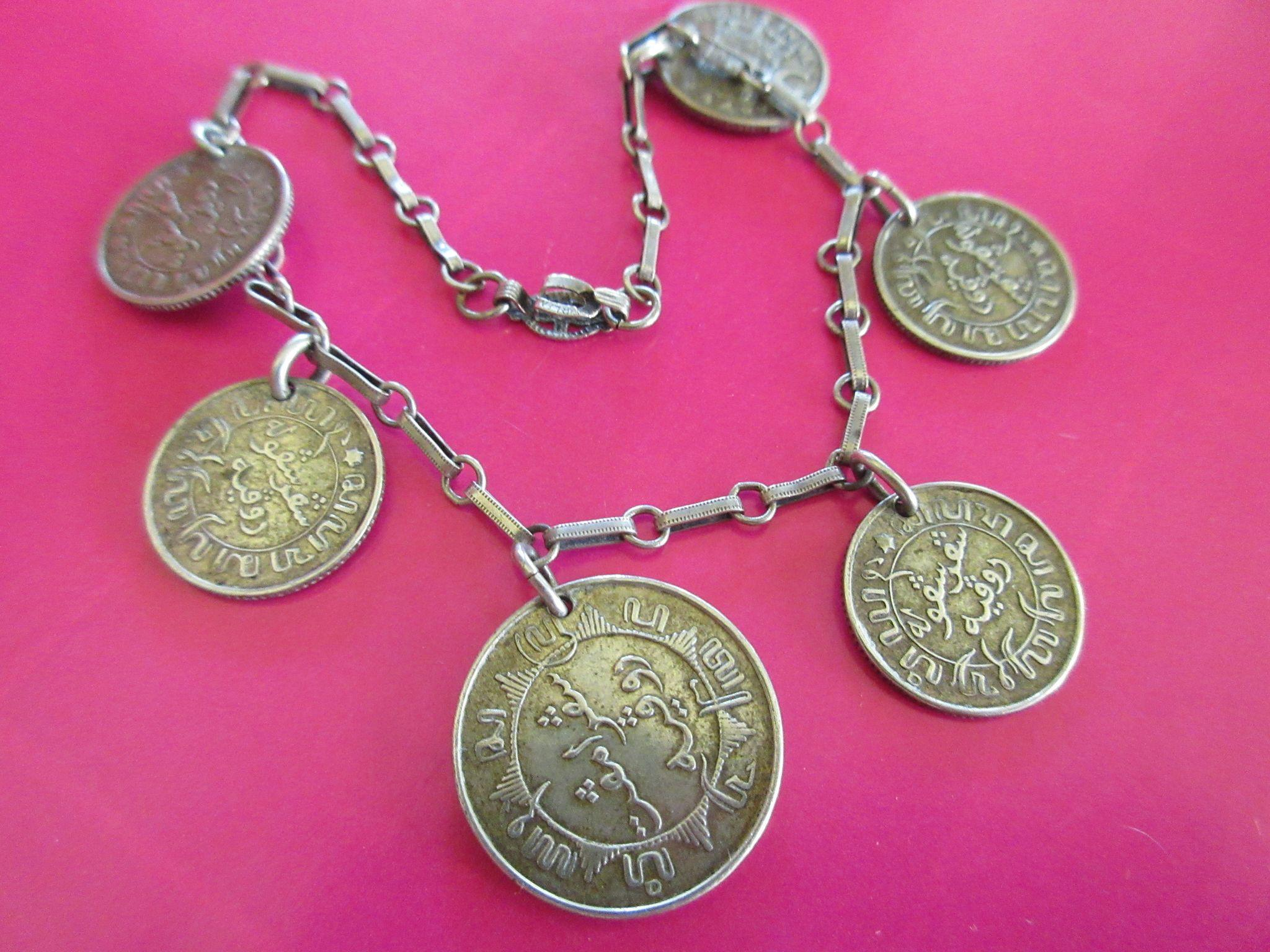 Vintage Netherlands East Indies Coin Bracelet 1941 1942