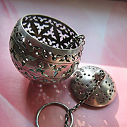 Vintage Silver Tea Ball Infuser