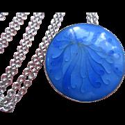 Vintage Silver Enameled Necklace