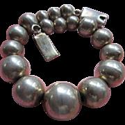 Vintage Mexican Sterling Beaded Bracelet