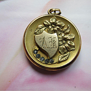 Antique Art Nouveau Paste Floral Locket