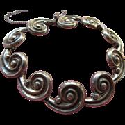 Vintage Los Castillo Sterling Mexican Bracelet