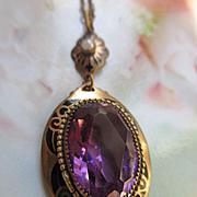 Vintage Deco Enameled Crystal Necklace