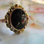 Vintage 10K Onyx Ring Fine Estate Jewelry