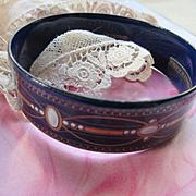 Michaela Frey Enameled Austrian Bracelet, Early Vintage Michaela Frey Bracelet