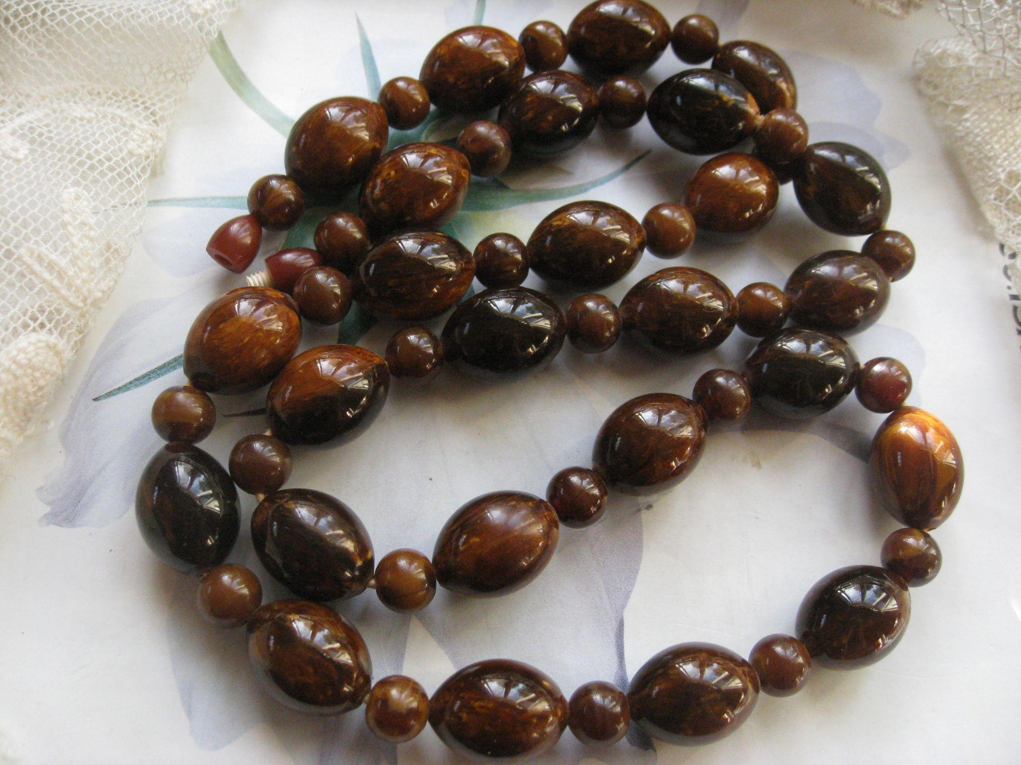 Vintage Bakelite Necklace Fabulous Fall Colors