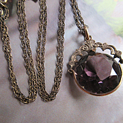 Antique Watch Fob Necklace