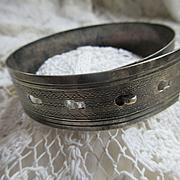 Vintage Sterling Silver Belt Buckle Bracelet