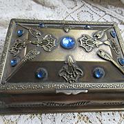 Circa 1920 French La Tausca Pearl Presentation Box  Casket