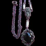 Vintage 20s 30s Sterling Lavaliere Necklace Art Deco Era