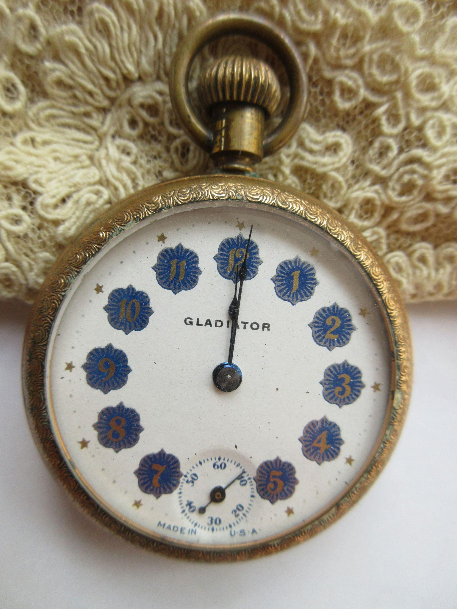 Antique Gladiator Pocket Watch TLC