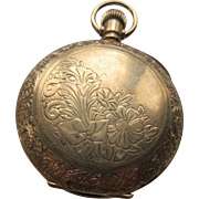 Antique Pocket Watch Locket in Gold Fill