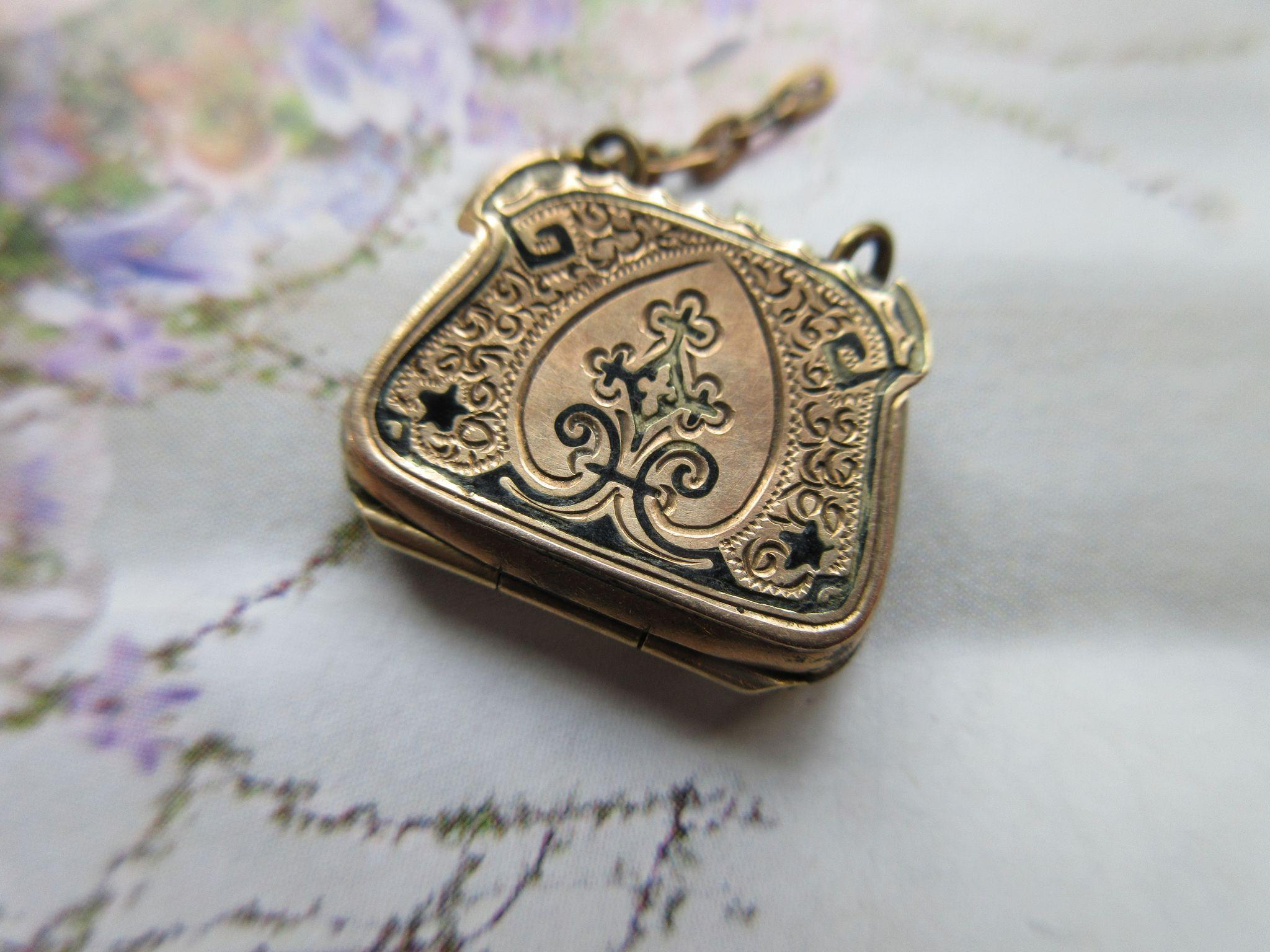 Antique Victorian Purse Fob Charm Locket