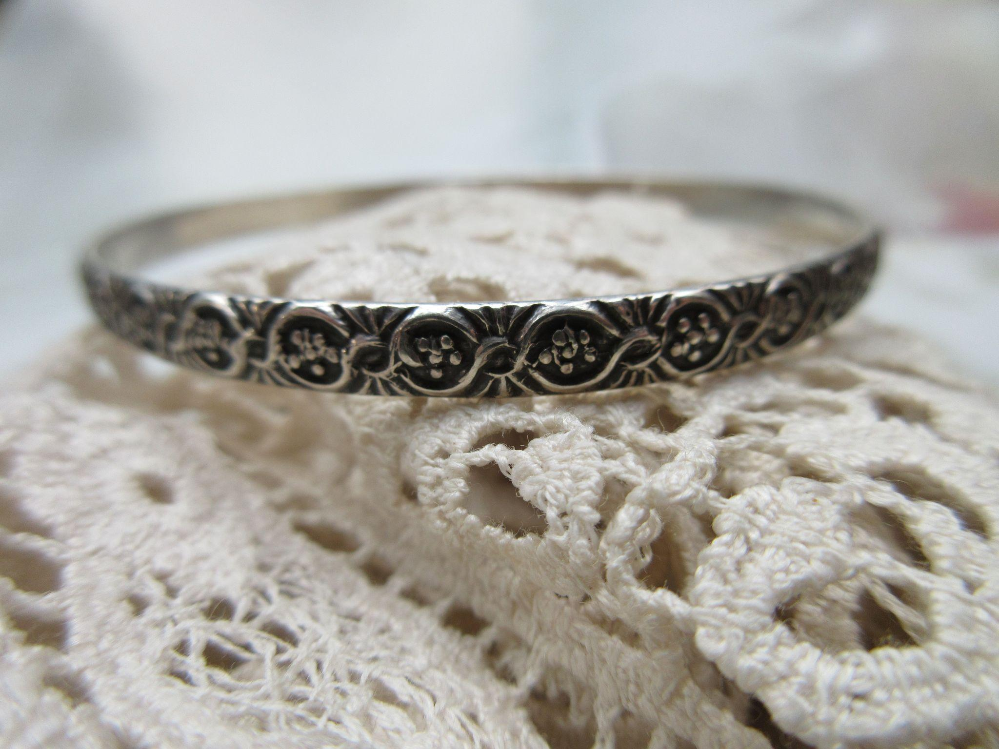 Circa 1930 Vintage Danecraft Felch Co Sterling Bangle Bracelet
