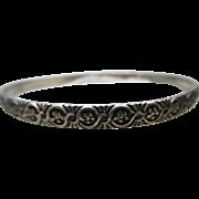 Circa 1930 Vintage Danecraft Felch Co Sterling Bangle Bracelet