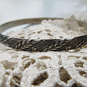 Vintage 30s 40s Danecraft Felch Co Sterling Bangle Bracelet