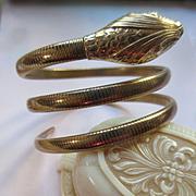 Vintage Circa 1940 Forstner Snake Bracelet in Gold Fill