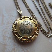 Vintage Circa 1930 Gold Fill Locket Necklace