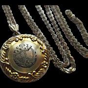 Vintage Circa 1930 Gold Fill Locket Necklace