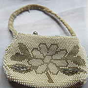 Vintage Czech Beaded Doll Purse