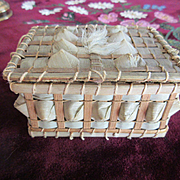 Antique Ribbon Work Basket