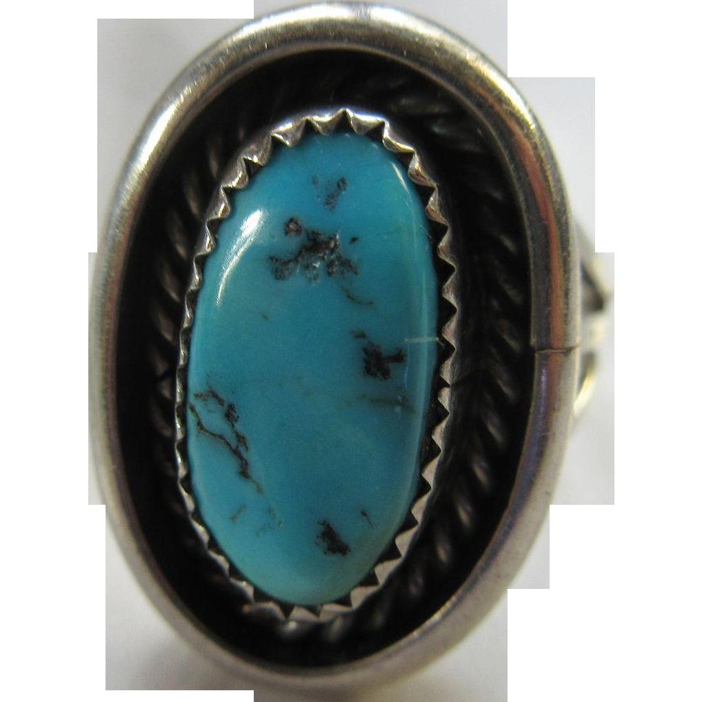 Vintage Sterling Native American Ring Hallmark Nj From