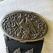 Victorian Cut Steel Crochet Change Purse Repousse Griffin Lid