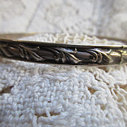 Vintage Sterling Felch co Danecraft Bangle Bracelet