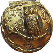 Antique Jewelry Casket Figural Owl